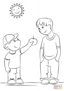 Showing Kindness Coloring Pages - Showing Kindness Coloring Page Kindness Coloring Pages Printable 4r