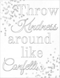 Showing Kindness Coloring Pages - Kindness Coloring Pages Kindness Quote Coloring Pages Doodle Art 17c