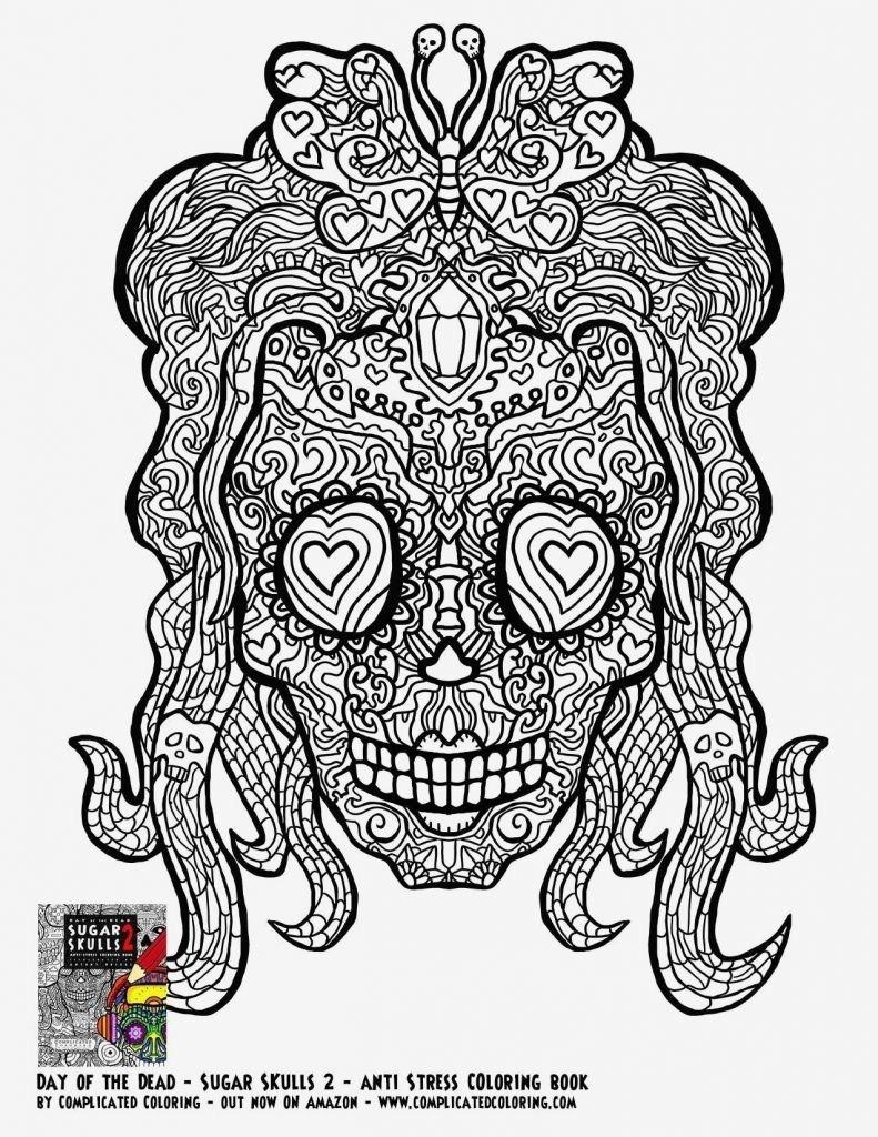 skeleton head coloring pages Download-Coloring Page Genial Skull Ausmalbilder 19-l
