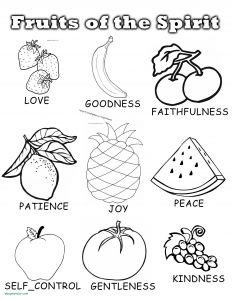 Spirit Coloring Pages - Fruit the Spirit Goodness Coloring Page Popular Fruit the Spirit Goodness Coloring Page Fruits Colouring 14t