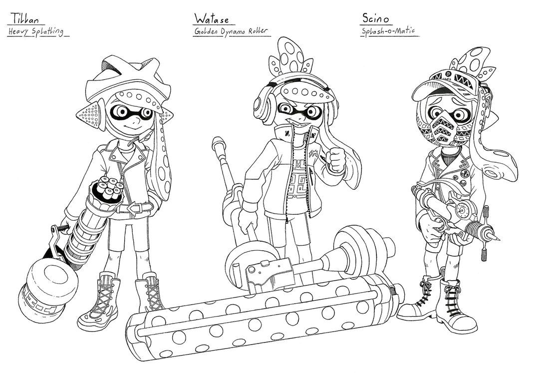 splatoon coloring pages Download-Coloriage Splatoon Gratuit Splatoon Coloring Sheet Printable Coloring Pages 9-r
