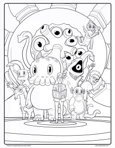 Spongebob Coloring Pages - Printable Artwork Coloring Pages 3a
