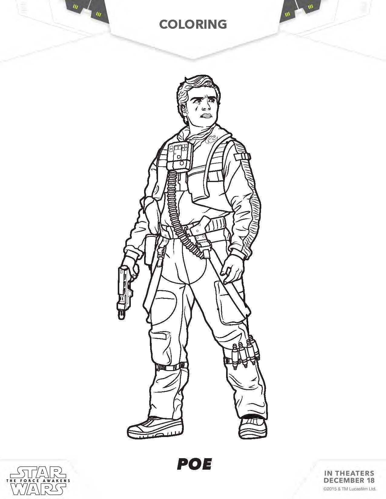 star wars the force awakens coloring pages Collection-star wars rey coloring pages star wars poe coloring pages the force awakens 10-s