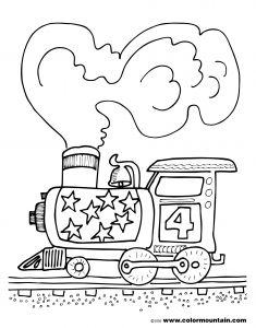 Steam Train Coloring Pages - Steam Engine Train Coloring Page 18i