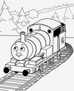 Steam Train Coloring Pages - Thomas the Train Coloring Pages Best Easy Thomas the Train Color Page 3k