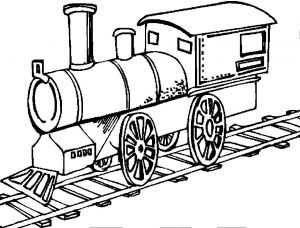 Steam Train Coloring Pages - Transportation Coloring Sheets 2k