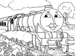Steam Train Coloring Pages - ashima Train Coloring Thomas the Tank Engine Coloring Pages Gordon · Thomas the Train 12m
