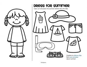 Summer Preschool Coloring Pages - Summer Colouring Pages 17p