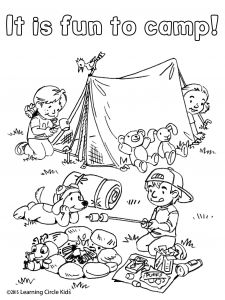Summer Reading Coloring Pages - My Five Senses Coloring Pages Free Coloring and Reading Page Summer Fun Camping with Reader Bee 14i