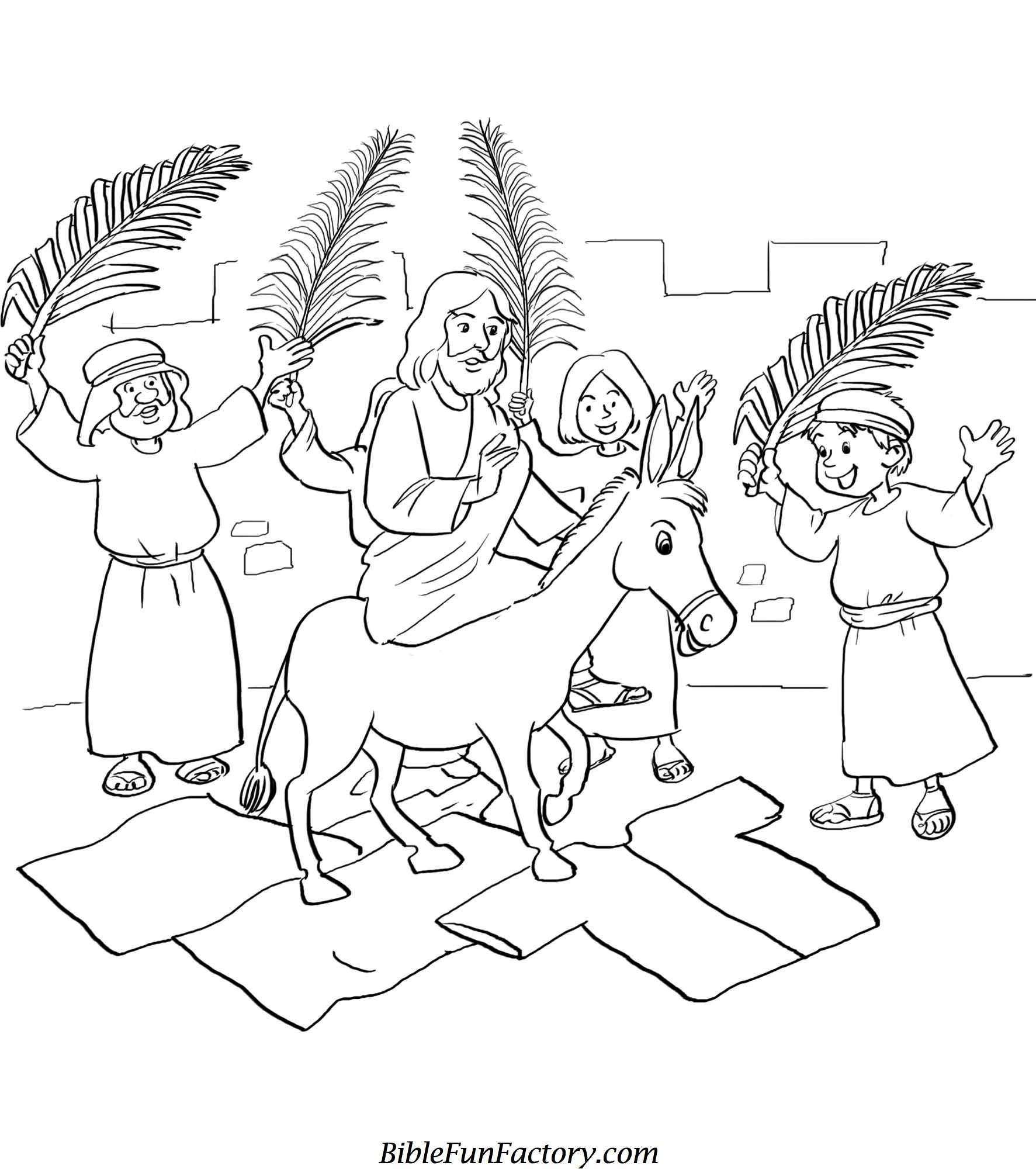 sunday school coloring pages easter Download-Free printable easter bible coloring pages with palm sunday sheets easter bible coloring pages 1773x2000 1-i