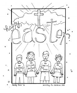Sunday School Easter Coloring Pages Free - Bible Easter Coloring Pages to Print with Religious Jesus Free Printable 7q