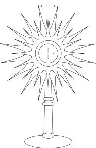 Sunday School Lesson Coloring Pages - Monstrance Coloring Page Google Search School Displays Ccd Activities Nursery Activities Sunday 6l