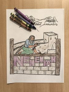 Sunday School Lesson Coloring Pages - Nehemiah Coloring Page 18n