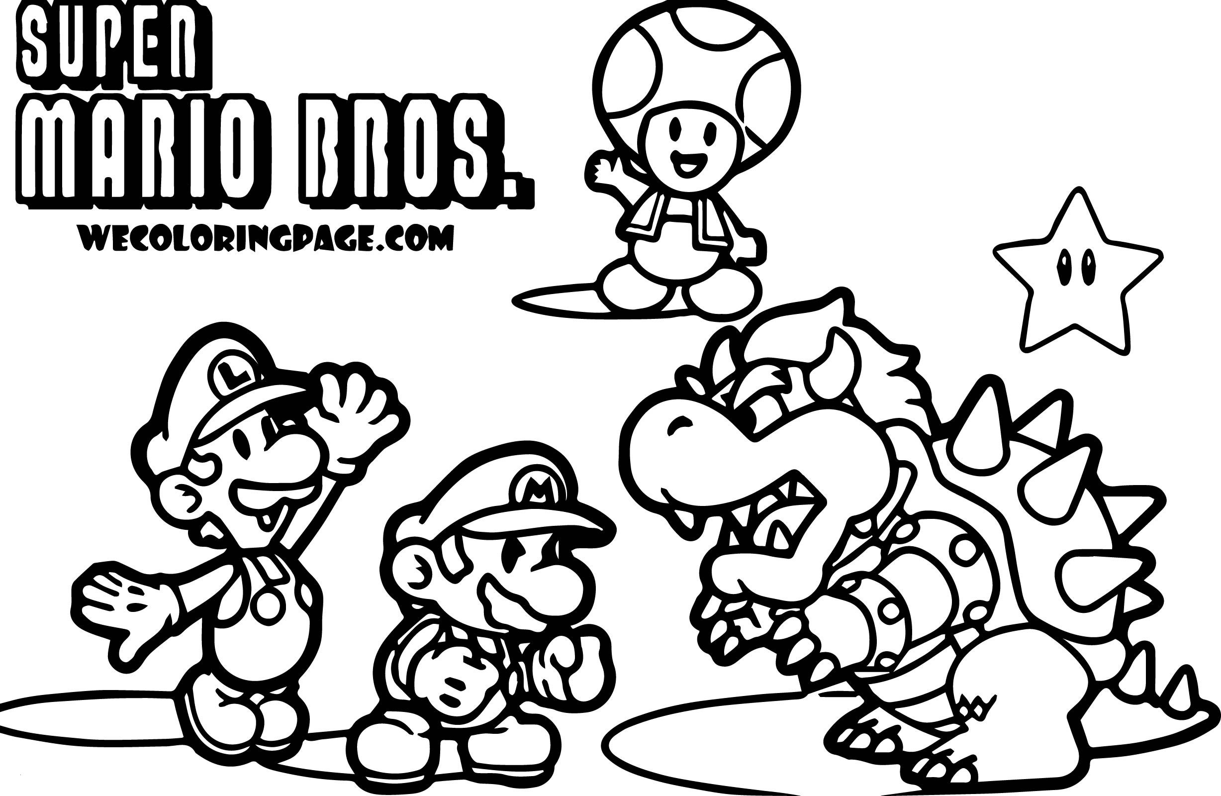 24 Super Mario Coloring Pages Collection Coloring Sheets
