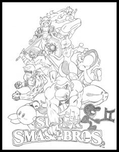 Super Smash Bros Coloring Pages - Super Smash Bros Coloring Pages 8q