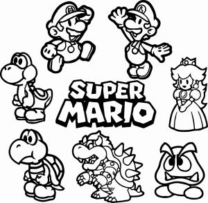 Super Smash Bros Coloring Pages - Mario Coloring Pages for Boys Download Ausmalbilder Super Mario 2s