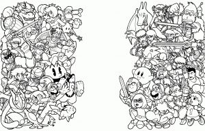 Super Smash Bros Coloring Pages - Super Smash Bros Coloring Pages Elegant Super Smash Bros Coloring Pages 3 Of Super Smash Bros Coloring Pages 2p