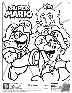 Super Smash Bros Coloring Pages - Here is the Happy Meal Super Mario Coloring Page the Picture to See My Coloring Video 18h
