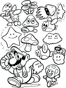 Super Smash Bros Coloring Pages - Strong Super Bros Coloring Pages to Print Mario Games 2p