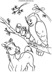 Tanzania Coloring Pages - Spirit Coloring Pages Pony with Owls Free Coloring Sheet You Could Print and Color Several 18j