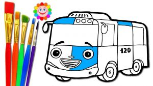 Tayo the Little Bus Coloring Pages - Hq720 14e