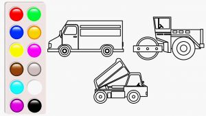 Tayo the Little Bus Coloring Pages - Bus Coloring Pages Dump Truck Road Roller and Delivery Truck Coloring Pages Vehicles 2o