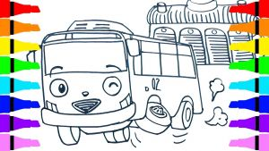 Tayo the Little Bus Coloring Pages - Outstanding Tayo Coloring Pages the Little Bus Rani Rogi for Kids Children 10g