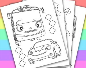 Tayo the Little Bus Coloring Pages - Splendid Design Inspiration Tayo Coloring Pages Digital Instant Download Printable Coloring Page This Listing Give Little Bus 17o