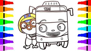 Tayo the Little Bus Coloring Pages - Phenomenal Tayo Coloring Pages How to Draw Pororo Rani Roi for Kids Little Bus 14p