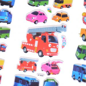 Tayo the Little Bus Coloring Pages - 6pcs Set Tayo the Little Bus Tag Pegatinas Juguetes 3d Cartoon Stickers Pegatinas Infantiles Kids Stickers In Notebook Hot Sell In Stickers From toys 3i