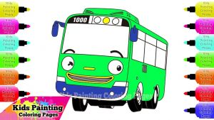 Tayo the Little Bus Coloring Pages - Sensational Design Ideas Tayo Coloring Pages Kids Painting How to Draw Rogi Bus the Little 10g