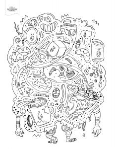 Teeth Coloring Pages - Awesome tooth Coloring Sheet Gallery 4t Junk Food Monster Adult Coloring Book Page 18l