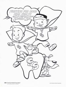 Teeth Coloring Pages - Fight for Good oral Health Coloring Page 7j