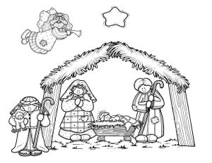 Temptation Of Jesus Coloring Pages for Kids - Mommy Circus Nativity Coloring Page 11s