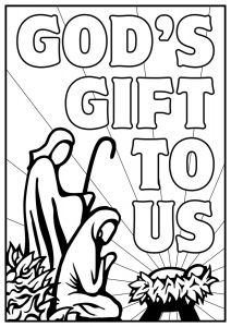 Temptation Of Jesus Coloring Pages for Kids - Open and Print This Christian Coloring Page 12p