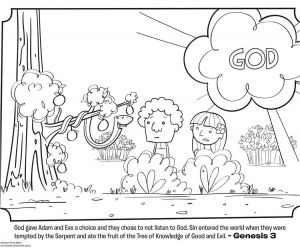Temptation Of Jesus Coloring Pages for Kids - Eve In the Garden Eden Coloring Pages Page Adam Showy 15j