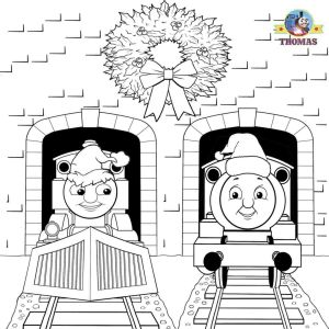 Thomas Coloring Pages - Santa Hat Coloring Page Train Thomas the Tank Engine Friends Free Neu Malvorlagen Halloween Kürbis 2a