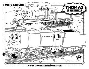 Thomas Coloring Pages - Molly and Neville Thomas the Tank Train Coloring Pages Thomas 3q
