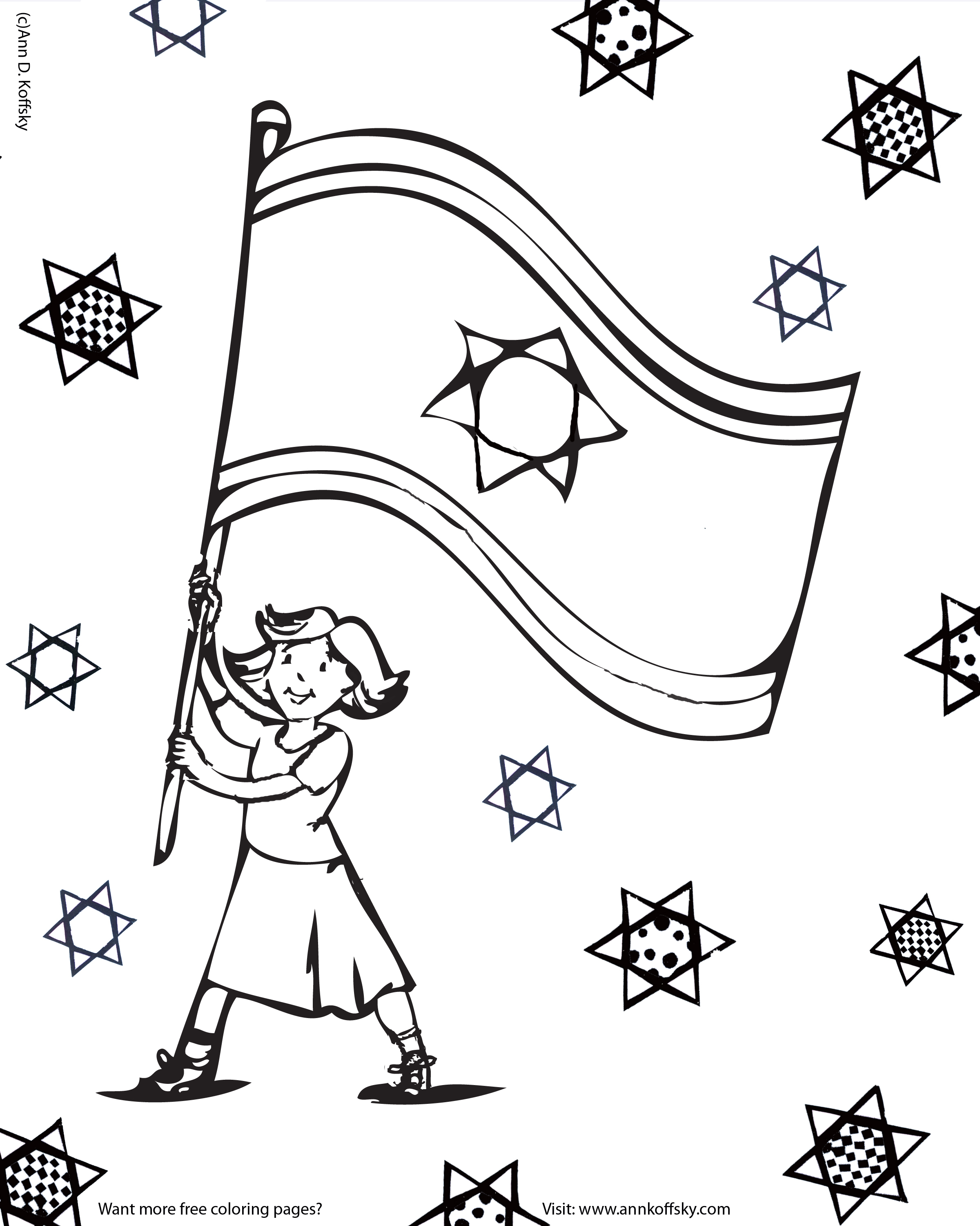 torah tots coloring pages Collection-yom haatzmautisrael independence day 5-t
