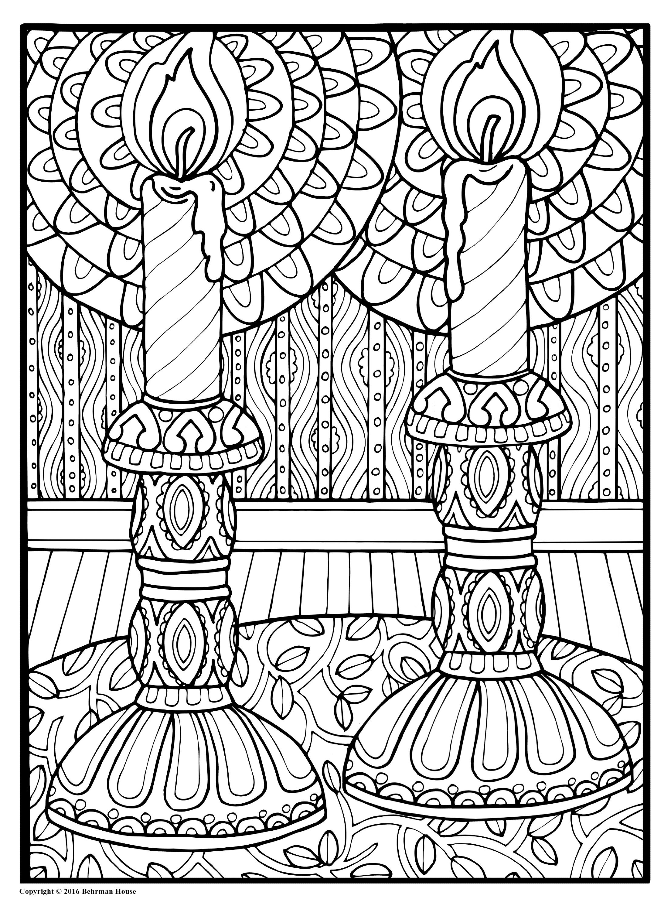 torah tots coloring pages Download-Beautiful Candles Shalom Coloring Book The New Alternative to Meditation 1-a