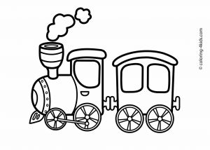 Train Coloring Pages for toddlers - Train Transportation Coloring Pages for Kids Printable 2l
