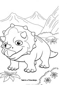 Train Coloring Pages for toddlers - Dinosaur Train Coloring Pages 7n