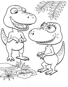 Train Coloring Pages for toddlers - Dinosaur Train Coloring Pages 3b