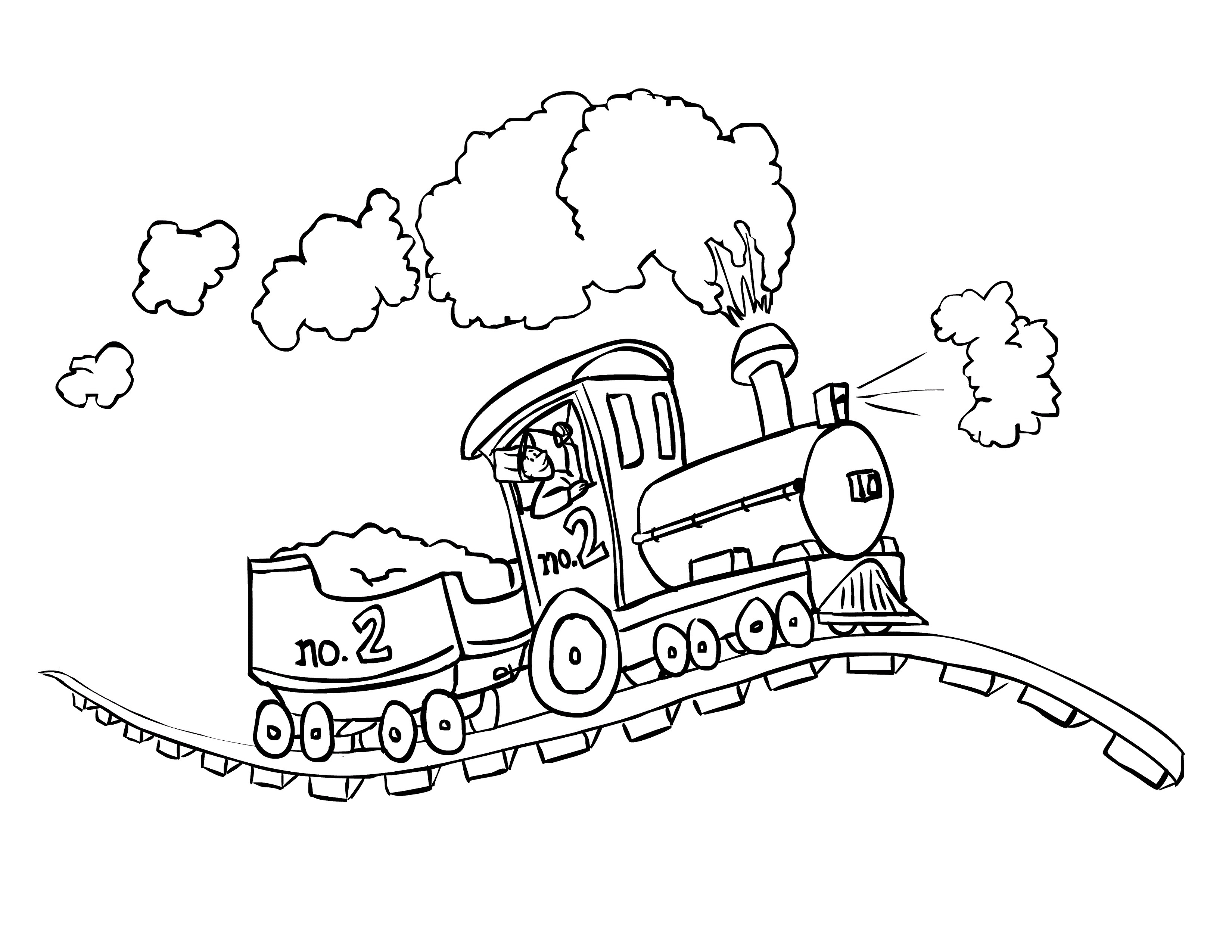 - Coloring Pages For Kids Train - Hd Football