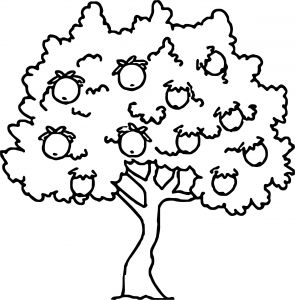 Tree Coloring Pages - Pecan Tree Coloring Page 4b