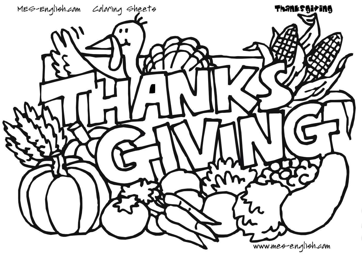 "turkey coloring pages for preschoolers Download-Unique Thanksgiving Coloring Pages A turkey and ve ables with the phrase ""Thanksgiving "" 9-q"