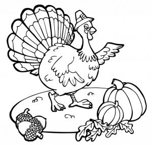 Turkey Coloring Pages for Preschoolers - Kids Thanksgiving Coloring Pages 10p