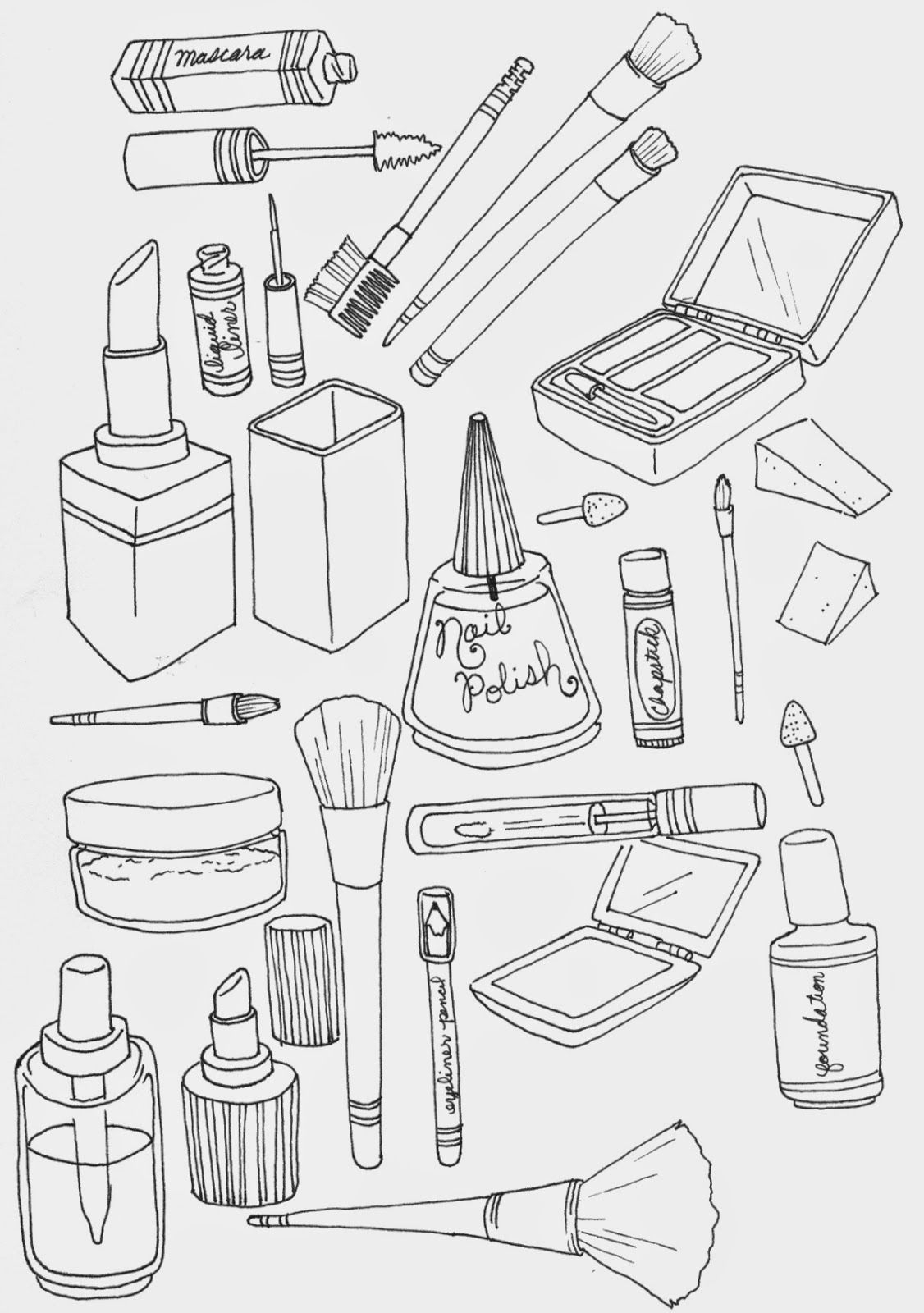 turn pictures into coloring pages for free Download-makeup colouring sheets Google Search 16-j