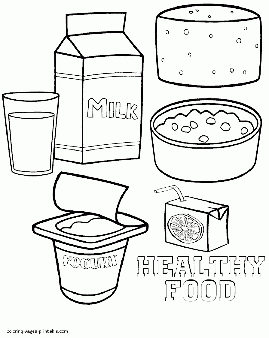 20 unhealthy food coloring pages gallery coloring sheets