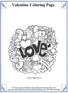 Valentine Day Coloring Pages - Valentines Day Coloring Pages 6k